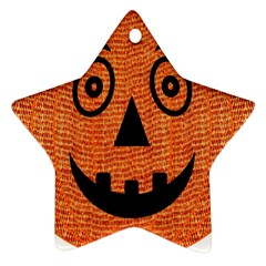 Fabric Halloween Pumpkin Funny Ornament (star)