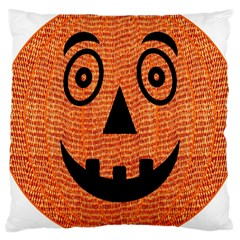 Fabric Halloween Pumpkin Funny Large Cushion Case (two Sides)