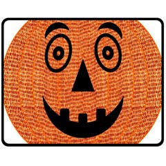 Fabric Halloween Pumpkin Funny Double Sided Fleece Blanket (medium)