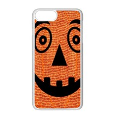 Fabric Halloween Pumpkin Funny Apple Iphone 8 Plus Seamless Case (white)