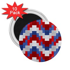 Texture Textile Surface Fabric 2 25  Magnets (10 Pack)