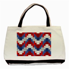 Texture Textile Surface Fabric Basic Tote Bag (two Sides)