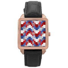 Texture Textile Surface Fabric Rose Gold Leather Watch