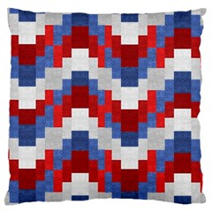 Texture Textile Surface Fabric Large Flano Cushion Case (one Side)