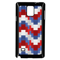 Texture Textile Surface Fabric Samsung Galaxy Note 4 Case (black)