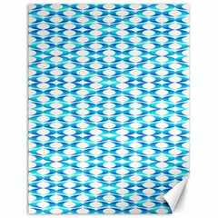 Fabric Geometric Aqua Crescents Canvas 18  X 24