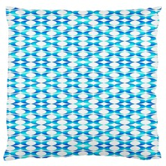 Fabric Geometric Aqua Crescents Large Cushion Case (two Sides)