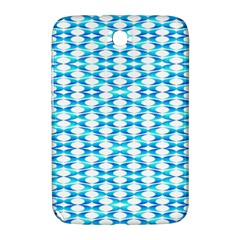 Fabric Geometric Aqua Crescents Samsung Galaxy Note 8 0 N5100 Hardshell Case
