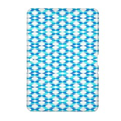 Fabric Geometric Aqua Crescents Samsung Galaxy Tab 2 (10 1 ) P5100 Hardshell Case