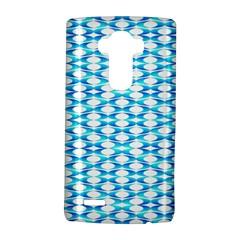 Fabric Geometric Aqua Crescents Lg G4 Hardshell Case