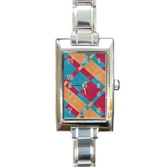 Fabric Textile Cloth Material Rectangle Italian Charm Watch