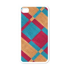 Fabric Textile Cloth Material Apple Iphone 4 Case (white)