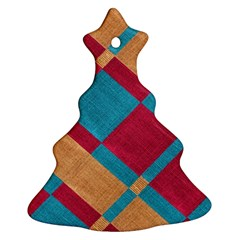 Fabric Textile Cloth Material Christmas Tree Ornament (two Sides)