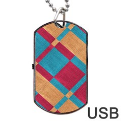 Fabric Textile Cloth Material Dog Tag Usb Flash (two Sides)