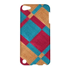 Fabric Textile Cloth Material Apple Ipod Touch 5 Hardshell Case
