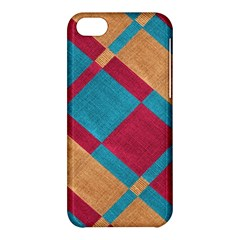Fabric Textile Cloth Material Apple Iphone 5c Hardshell Case