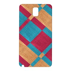 Fabric Textile Cloth Material Samsung Galaxy Note 3 N9005 Hardshell Back Case