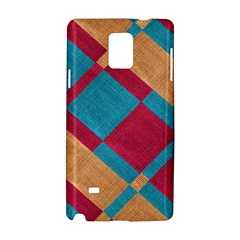 Fabric Textile Cloth Material Samsung Galaxy Note 4 Hardshell Case
