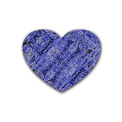 Texture Blue Neon Brick Diagonal Heart Coaster (4 Pack)