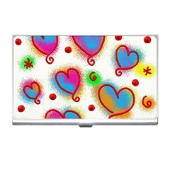 Love Hearts Shapes Doodle Art Business Card Holders