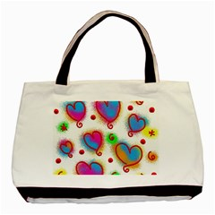 Love Hearts Shapes Doodle Art Basic Tote Bag (two Sides)