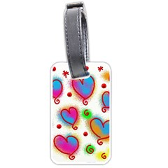 Love Hearts Shapes Doodle Art Luggage Tags (two Sides)