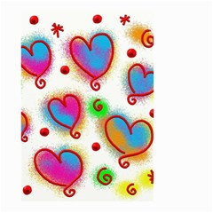 Love Hearts Shapes Doodle Art Small Garden Flag (two Sides)