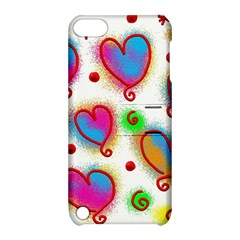 Love Hearts Shapes Doodle Art Apple Ipod Touch 5 Hardshell Case With Stand