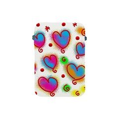 Love Hearts Shapes Doodle Art Apple Ipad Mini Protective Soft Cases