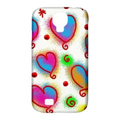 Love Hearts Shapes Doodle Art Samsung Galaxy S4 Classic Hardshell Case (pc+silicone)