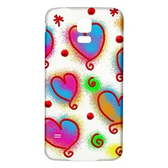 Love Hearts Shapes Doodle Art Samsung Galaxy S5 Back Case (white)