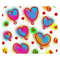 Love Hearts Shapes Doodle Art Double Sided Flano Blanket (small)