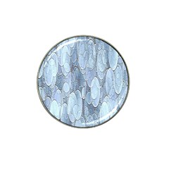 Bubbles Texture Blue Shades Hat Clip Ball Marker