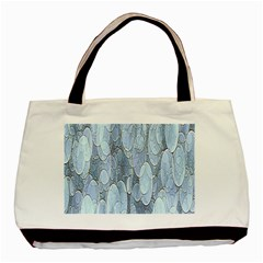 Bubbles Texture Blue Shades Basic Tote Bag (two Sides)