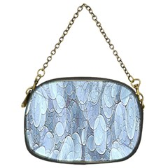 Bubbles Texture Blue Shades Chain Purses (two Sides)
