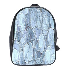 Bubbles Texture Blue Shades School Bag (large)