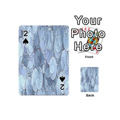Bubbles Texture Blue Shades Playing Cards 54 (mini)