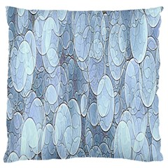 Bubbles Texture Blue Shades Large Cushion Case (two Sides)