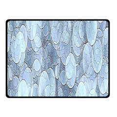 Bubbles Texture Blue Shades Double Sided Fleece Blanket (small)