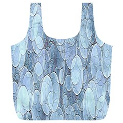 Bubbles Texture Blue Shades Full Print Recycle Bags (l)