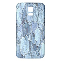 Bubbles Texture Blue Shades Samsung Galaxy S5 Back Case (white)