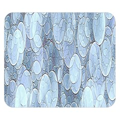 Bubbles Texture Blue Shades Double Sided Flano Blanket (small)