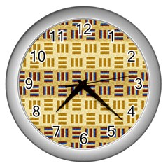 Textile Texture Fabric Material Wall Clocks (silver)
