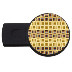 Textile Texture Fabric Material Usb Flash Drive Round (4 Gb)