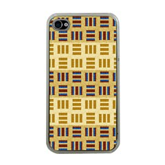 Textile Texture Fabric Material Apple Iphone 4 Case (clear)