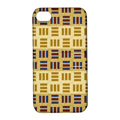 Textile Texture Fabric Material Apple Iphone 4/4s Hardshell Case With Stand