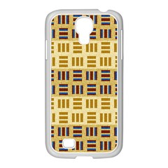 Textile Texture Fabric Material Samsung Galaxy S4 I9500/ I9505 Case (white)