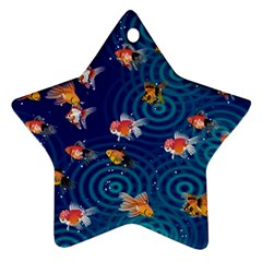 Fish Swim In The Ocean Star Ornament (two Sides)