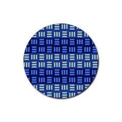 Textiles Texture Structure Grid Rubber Round Coaster (4 Pack)