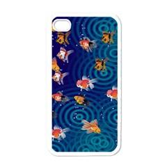 Fish Swim In The Ocean Apple Iphone 4 Case (white)